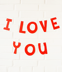 """Бумажная гирлянда """"I love you"""""""