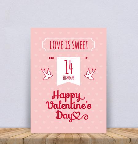 """Постер """"Happy Valentines Day"""""""