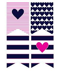 Бумажная гирлянда с сердечками