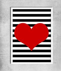 "Постер ""Red Heart"""