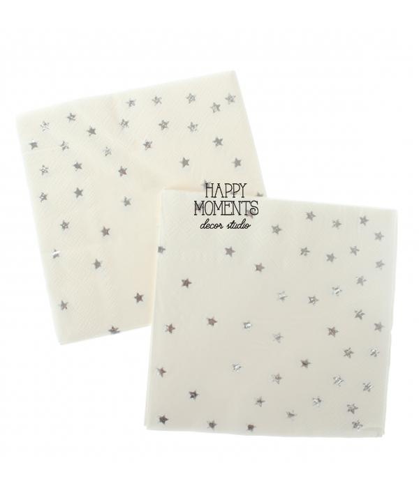 """Бумажные салфетки """"Silver stars"""" (10 шт.)"""