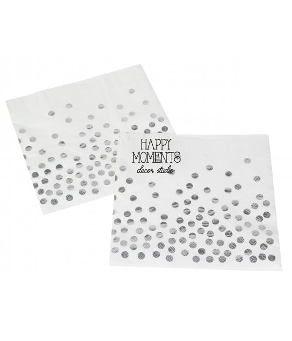 "Бумажные салфетки ""Silver confetti"" (10 шт.)"