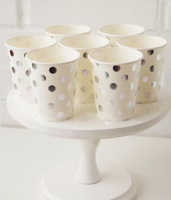 "Бумажные стаканчики ""Silver Polka Dots"" (10 шт.)"