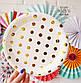"Бумажные тарелки ""Gold Polka dots"" (10 шт.), фото 2"