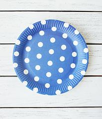 "Бумажные тарелки ""Blue Polka dots"" (10 шт.)"