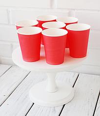 Бумажные стаканчики красные (10 шт.)