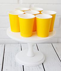 Бумажные стаканчики желтые (10 шт.)