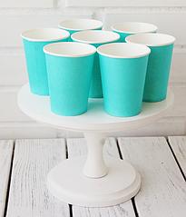 Бумажные стаканчики голубые (10 шт.)