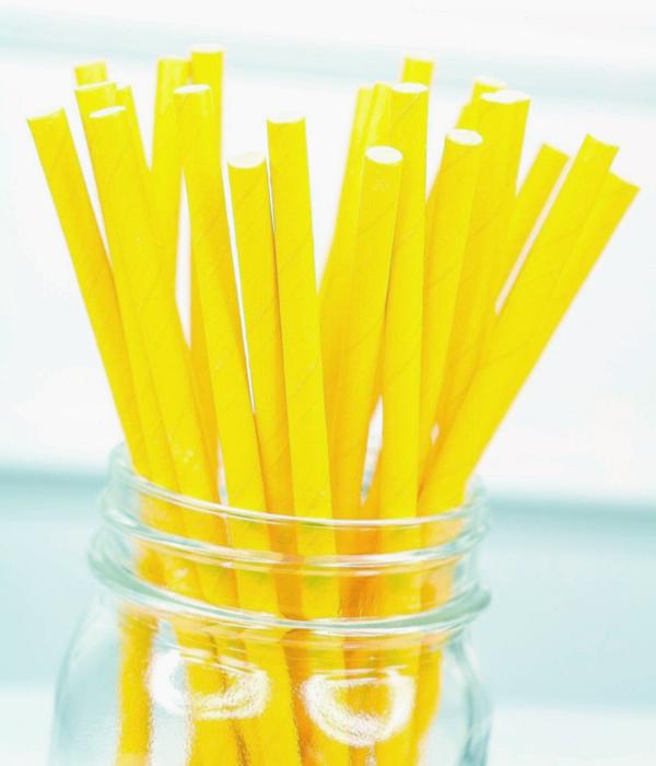 """Бумажные трубочки """"Yellow"""" (10 шт.)"""