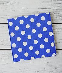 "Бумажные салфетки ""Blue polka dots"""