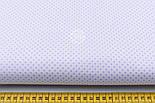 """Лоскут ткани """"Пунктирный горошек"""" сиреневый на белом №1925, размер 35*75 см, фото 2"""