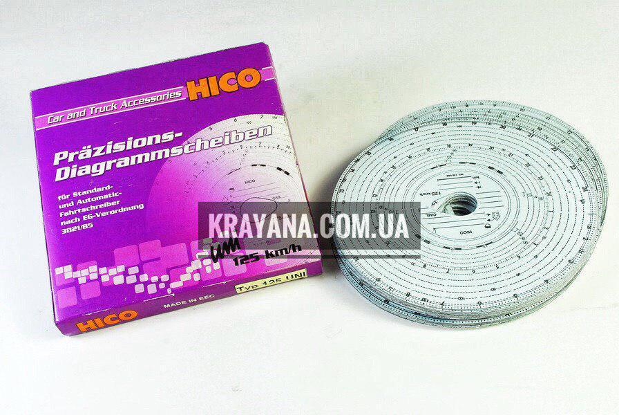 Диск тахографа HICO WKR005 125 км/ч