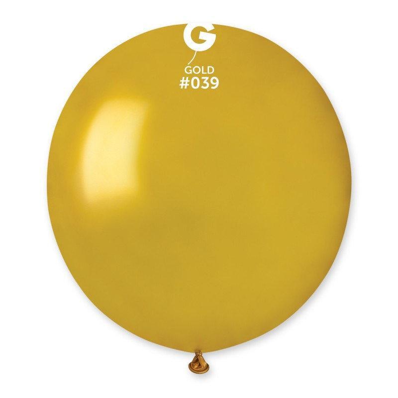 Воздушный шар Gemar G150-39 Золото металлик 19' (48 см), 50 шт