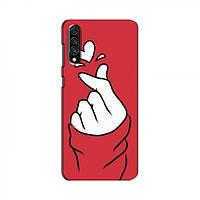 Чехол с принтом для Samsung Galaxy A30s (A307) (AlphaPrint - Знак сердечка) (Самсунг )