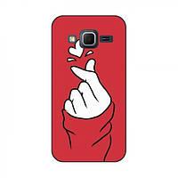 Чехол с принтом для Samsung G360 / G361, Core Prime (AlphaPrint - Знак сердечка) (Самсунг кор прайм г 360, коре прайм 361, г360, г361)
