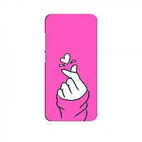 Чехол с принтом для Samsung Galaxy A10e (AlphaPrint - Знак сердечка) (Самсунг Самсунг А10е), фото 1