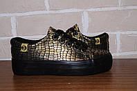 Туфли, кеды, кроссовки, демисезон, обувь в школу, для девочки, золото всего за 159грн размеры от 30-35