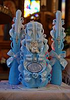 Свечи для крестин - именные с ангелом, датой, весом и ростом ребенка
