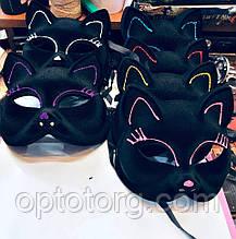 Маска Карнавальная Кошка бархат для Хэллоуина