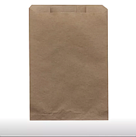 Бумажные пакеты, Крафт пакеты ( паперові / бумажные) без ручек 100 шт 22,5 х 37 см
