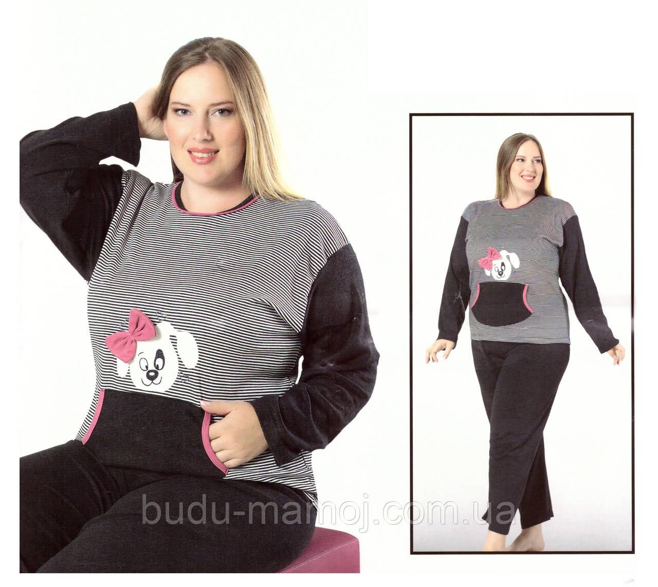 Теплая пижама отличного качества Турция 3XL  большие размеры