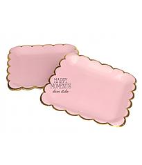 """Бумажные тарелки квадратные """"Pink & Gold"""" (10 шт.)"""