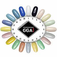 Гель лак GGA Professional 10 ml, разные цвета
