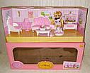 Кукольная мебель — Гостиная, куколка, питомец, кресло, диван, телевизор, фото 3
