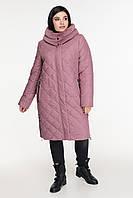 Зимняя куртка приталенного силуэта с вшитым капюшоном  рр 50-60
