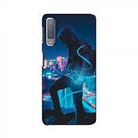 Чехол с печатью (Мода) для Samsung A7-2018, A750 (AlphaPrint) (Самсунг А7 2018 / А750), фото 1