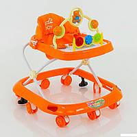 Детские музыкальные ходунки модель 258 (оранжевые)