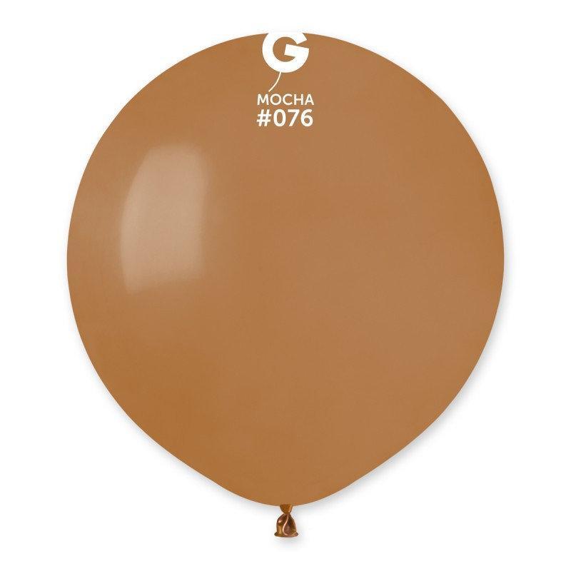 Воздушный шар Gemar G150-76 Мокко пастель 19' (48 см), 50 шт