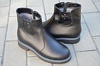 Ботинки женские натуральная кожа черные зимние и демисезонные от производителя KARMEN