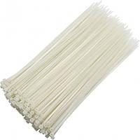 Стяжки нейлоновые 500х5мм, белые, 100шт