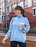 Свитер женский модный теплый под горло с молнией на спине разные цветаSsvv476