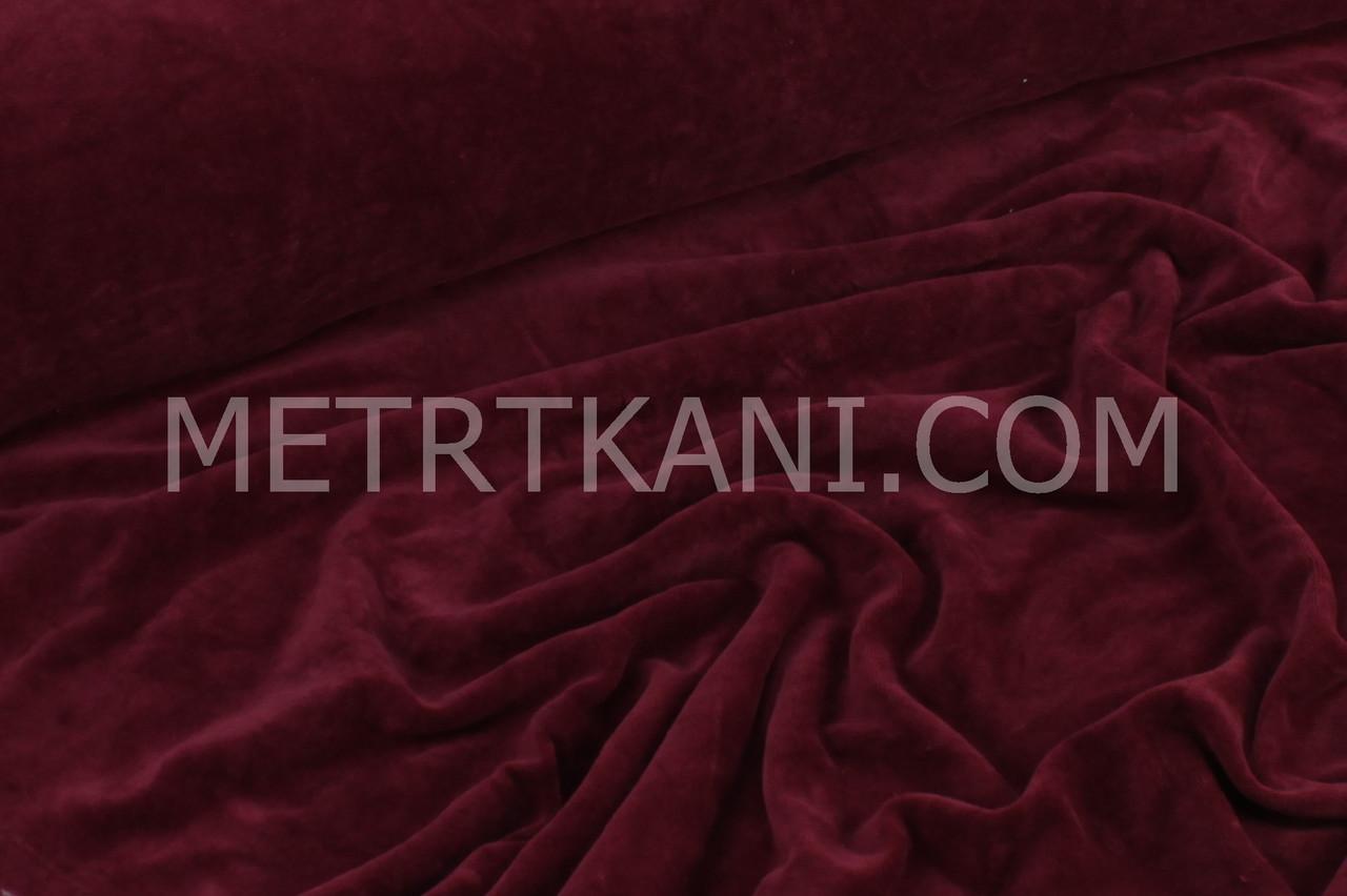 Велюр х/б   цвет бордо, ширина 180см № В-029