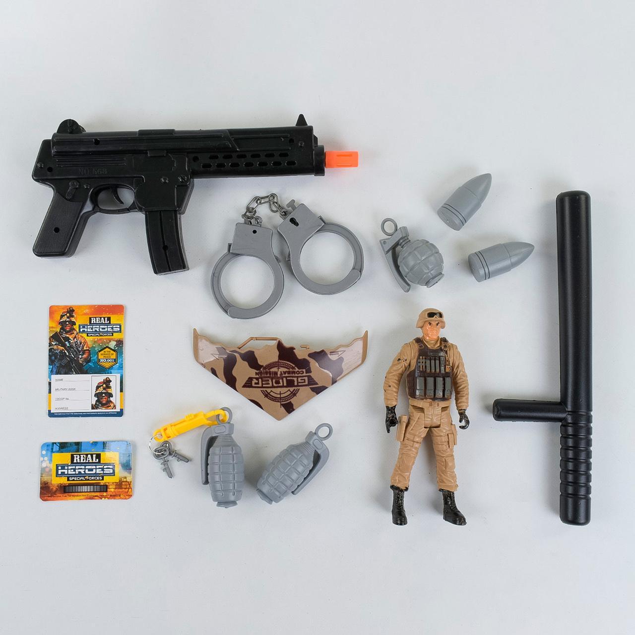 Военный набор Спецотряд 88660 набор для маленького солдата