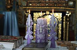 Набір красивих свічок на Таїнство Хрещення!