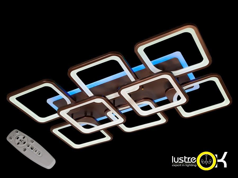 Люстра світлодіодна стельова Люстра з пультом MX2281/6+2CF LED dimmer