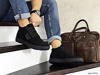 Мужские зимние ботинки на меху в стиле Vankristi, натуральная замша, черные*** 41 (27 см)