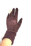 Перчатка женская BD 05  (уп.12 штук) Замш, фото 1