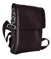 Мужская кожаная сумка-планшет  на три отделения Vesson 4117 черная, фото 1