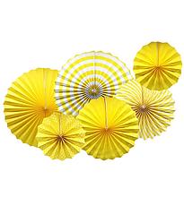 """Набор бумажных вееров """"Yellow mix"""" (6 шт.)"""