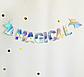 """Гирлянда с голографической надписью """"Magical Birthday"""" и единорогами, фото 3"""