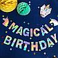 """Гирлянда с голографической надписью """"Magical Birthday"""" и единорогами, фото 4"""