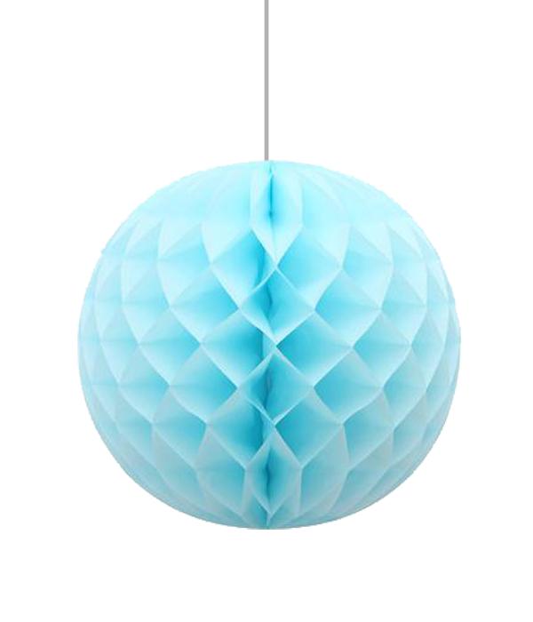 """Бумажные шарики-соты для украшения праздника """"Light blue"""" (30 см.)"""