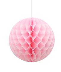 """Бумажные шарики-соты для украшения праздника """"Light Pink"""" (30 см.)"""