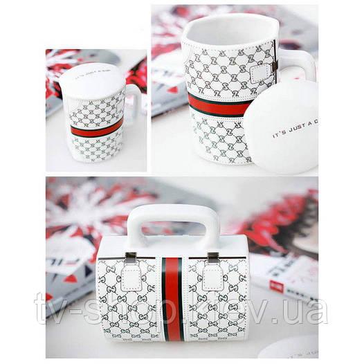 Керамическая чашка  сумка Gucci