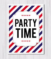 "Постер для праздника ""PARTY TIME"""