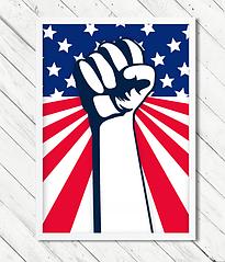 Постер для праздника в американском стиле